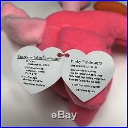 Rare Ty Beanie Baby Pinky The Flamingo With Errors