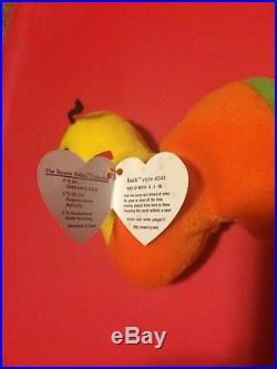 Rare Ty Inch Inchworm Beanie Babies Baby 1995 Pvc Pellets Style 4044 Swing Tag