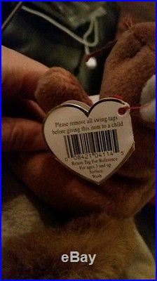 Rare Ty Nuts Original Beanie Baby 1996 Style # 4114 no stamp inside tush tag