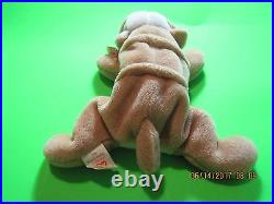 Rare Ty Retired Beanie Baby Wrinkles 1996 Nwt Tag Errors
