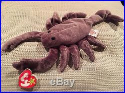 Rare Ty Stinger Beanie Baby Scorpion Retired 1997 Tag Babies