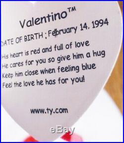 Rare Valentino Beanie Baby All Errors Mismatched Tags Plus Unique Tag Error