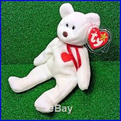 Rare Valentino Bear Ty Beanie Baby 3RD Gen PVC & 4TH Waterlooville / Deutschland