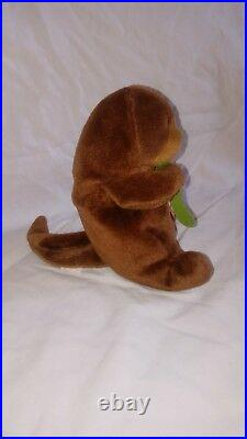 Rare ty beanie babies first edition seaweed the otter
