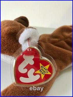 Retired 1996 Ty Beanie Baby SLY the Fox PVC, TAG ERRORS, MWMT & RARE