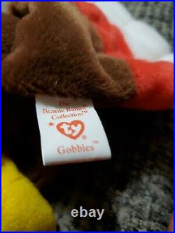 Retired Gobbles Ty Beanie Baby 1996 Rare Errors Mint