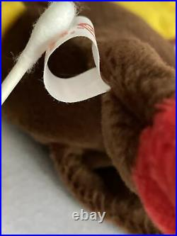 Retired Rare Pvc Ty Beanie Baby Gobbles The Turkey 1996 Tag Errors Mint
