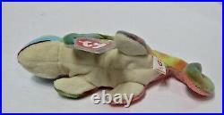 Retired Rare Ty Beanie Baby Iggy the Iguana 1997 PVC Tag Errors