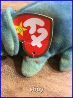 Retired & Rare Ty Teenie Beanie. (iggy The Iguana)