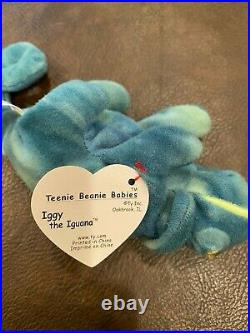 Retired & Rare Ty Teenie Beanie. (iggy The Iguana) 1993
