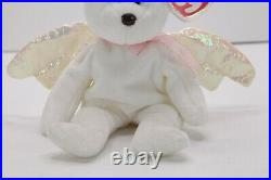 Retired TY HALO Angel Beanie Baby Very Rare with Brown Nose & Errors 1998