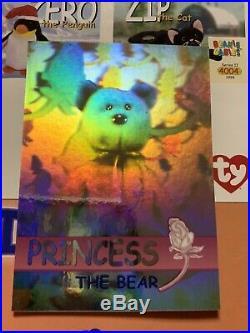 SILVER SERIES 2 RARE Princess Diana BEAR HOLOGRAPHIC BEANIE BABIES Card /26668