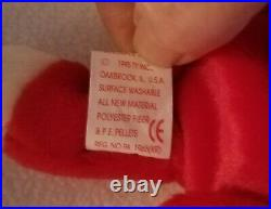 SNORT THE BULL ty Original Beanie Baby May 15 1995 Retired With Tag Errors RARE
