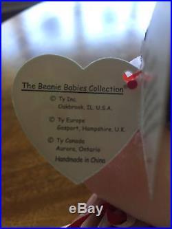 Spangle Ty Beanie Baby Authentic 1999 Patriotic USA Style Rare Teddy Bear
