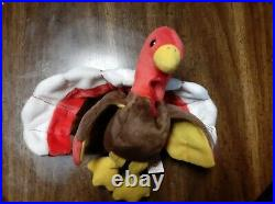 Super Rare Gobbles Ty Beanie Baby 1996 Retired Beautiful Colors and Design