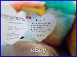 Super Rare Large 15 Peace and 3 9 Peace, Ringo, Bones, Ty Beanie Babies