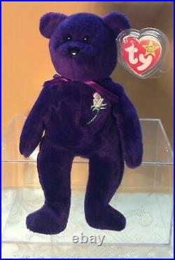Super Rare, The Ghost Version1997 Ty Princess Diana Beanie Baby. Retired Edit