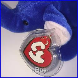 TY BEANIE BABIES Peanut The Elephant Royal Blue Super Rare Authentic NWT 3rd Gen