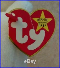 TY BEANIE BABY 94 VALENTINO withERRORS PVC PELLETS RARE
