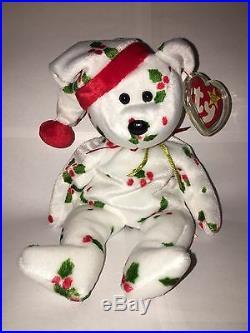 e60a8c69645 TY BEANIE BABY Beanie Babies 1998 HOLIDAY TEDDY ORIGINAL RETIRED RARE NEW
