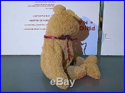 TY BEANIE BABY CURLY AUTHENTIC BEAR RETIRED WITH TAG ERRORS RARE style 4052