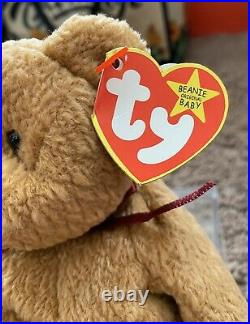 TY BEANIE BABY CURLY RETIRED With TAG ERRORS VERY RARE! Collectible