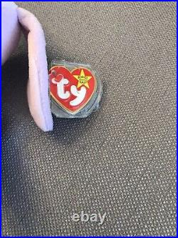 TY BEANIE BABY Floppity 1996 RARE With Major Facial and Spelling Errors