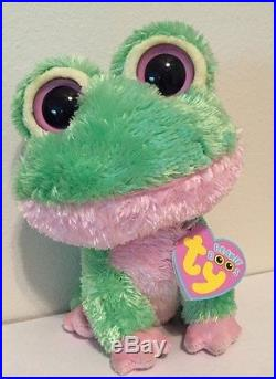 TY BEANIE BOOS 2009 KIWI the FROG 6 RARE with tags retired