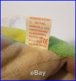 TY Beanie Babie Iggy Ultra Rare New Mwmt PVC 1st Edition Collectors Item Tag R