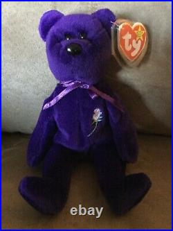 TY Beanie Babie PRINCESS DI ULTRA RARE. NEW MWMT+ More IINVESTMENT QUALITY