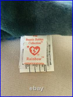 TY Beanie Babie RAINBOW ULTRA RARE INDONESIA 2 Can. Tags + INVESTMENT QUALITY