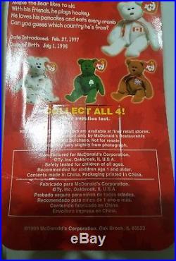 TY Beanie Babies 1999 McDonalds International Set Call 4 rare errors NIB retired