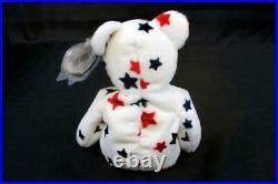 TY Beanie Babies GLORY Rare Error Red Stamp 425 Tag 1998 Hang 1997 Plush Bear