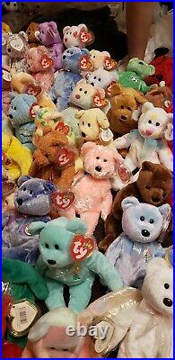 TY Beanie Babies Huge Lot of 117 Rare Retired