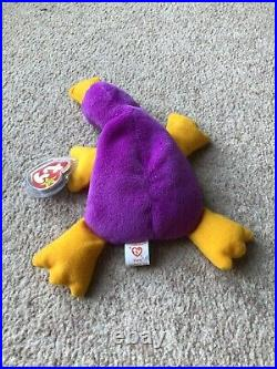 TY Beanie Babies Patti The Platypus (PVC Pellets 1993) Very Rare