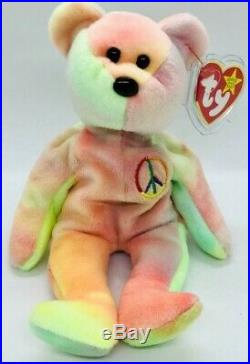 TY Beanie Babies Peace Bear RARE NEW