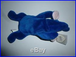 aef1fbfd8ae TY Beanie Babies Peanut Elephant Royal Blue 3rd gen hang MWNMT 1st Gen Tush  Rare