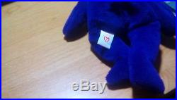 TY Beanie Babies Princess Diana Bear Rare 1st Edition PVC Pellet MINT