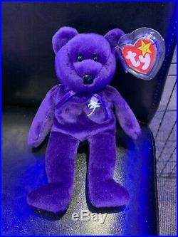 TY Beanie Babies RARE RETIRED Princess Diana 1ST Edition 1997