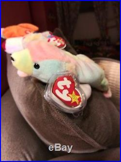 TY Beanie Babies Rare Retired Sammy the Bear with Tag Errors Extremely Unique
