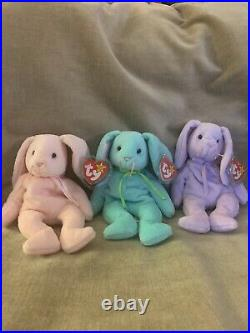 TY Beanie Baby 1996 Hippity Hoppity Floppity with PVC Pellets Tag Errors RARE