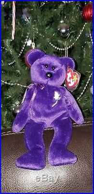 TY Beanie Baby 1997 1st Edition Princess Diana Bear RARE
