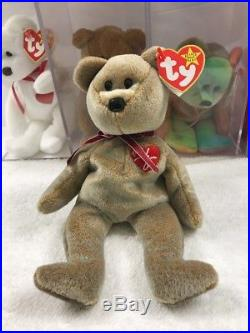 93a1f4cd922 TY Beanie Baby 1999 SIGNATURE TEDDY Bear WITH ERRORS HANG TAG-RARE-RETIRED