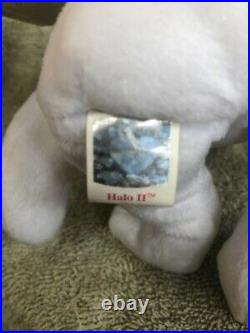 TY Beanie Baby 2000 Halo II 2 Bear- RARE BROWN NOSE AND TAG ERRORS