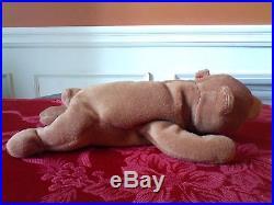 TY Beanie Baby 93 CUBBIE Tags+Errors (Rare) Ty Deutschland! Un-Numbered/PVC