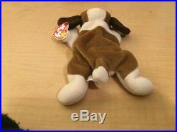 TY Beanie Baby BERNIE THE DOG Rare/Retired Vintage Birthday Oct 3 1996 JKT11