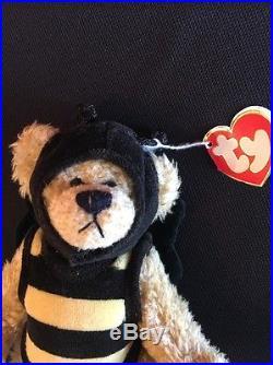 TY Beanie Baby Beezee- RARE! - Swing Tag Errors