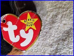 TY Beanie Baby Blackie Very Rare, PVC Pellets, 1993/1994, Many Errors