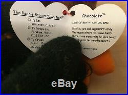 TY Beanie Baby CHOCOLATE THE MOOSE Rare/Retired ERROR Birthday Apr 27 1993 JKT11