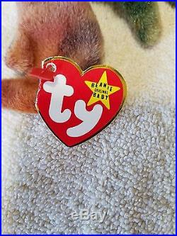 TY Beanie Baby CLAUDE The Crab, Extremely Rare, With Many Errors, 1996